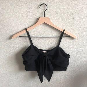 F21 Strapless Black 2-piece Jumpsuit Set Size M